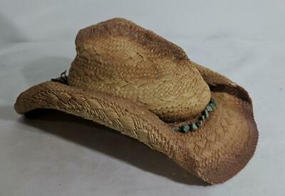 1e82301124385 AD Blue Chair Bay Kenny Chesney Inspired Size M S Tan Straw Cowboy Hat Cap