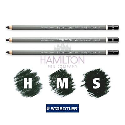 STAEDTLER Mars Lumograph Charcoal Pencils - High Carbon/Charcoal Content Pencils