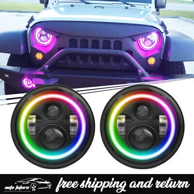 Can Am Renegade Halo Rings Lights Set 4 Blue Angel Eyes