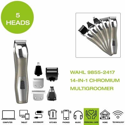 *Brand New* Wahl 9855-2417 14-in-1 Chromium Multi Groomer, 5 Attachment Heads