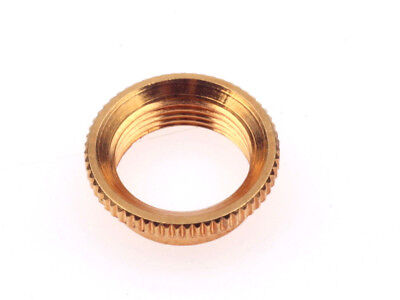 Gibson® Deep Nut Fine knurrled for Switchcraft toggle switch Gold plated