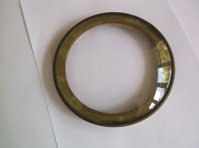 Concave Beveled Glass/Rim. From An Old  Clock   Ref K2