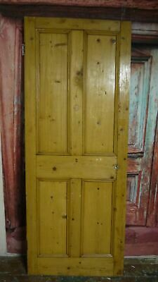 V29/44 (29 3/4 x 74 3/4) Antique Victorian old solid pine wooden door, N Yorks