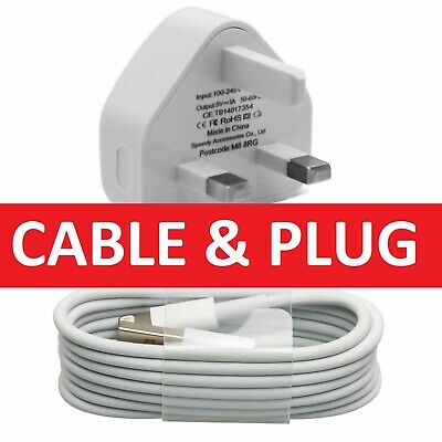 100% Genuine CE Charger Plug & USB Sync Cable for Apple iPhone X 8 7 6 Plus iPad