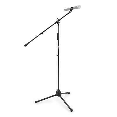 Tiger MCA68-BK Professional Black Boom Microphone Stand with Mic Clip