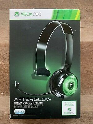 XBOX 360 PDP Afterglow Wired Gaming Headset Headphone Mic Green