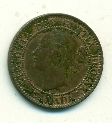 Canada 1 cent 1859 Wide 9 Over 8 EF Pitting