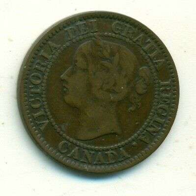 Canada 1 cent 1859 Wide 9 Over 8 VG+
