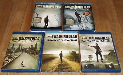 The Walking Dead season 1 2 3 4 5 blu-ray 3 seasons are new and 2 are mint