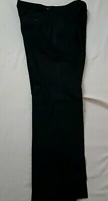 Black M&S Men's Evening Trousers with Side Trim