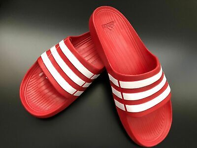 ADIDAS Men`s Originals Duramo Slide Sandal Slipper Flip Flop Stripped  NWT