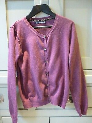 Next girls age 9-10 wine red soft cotton cardigan - excellent condition