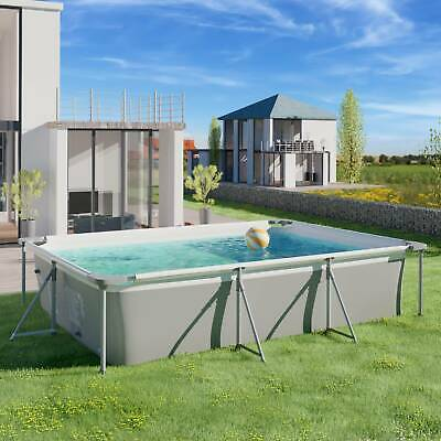 Garden Swimming Pool With Pump Large Metal Rectangle Frame-10FT -Family Pool NEW
