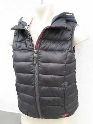 Next Girls Age 10 Grey Padded Hooded Quilt Gilet Cat Print Spring Fashion Wear