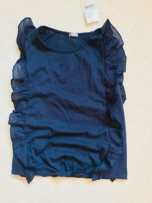 Brand New Girls Navy Front Tie Sleeveless Top Age 11 years from Next