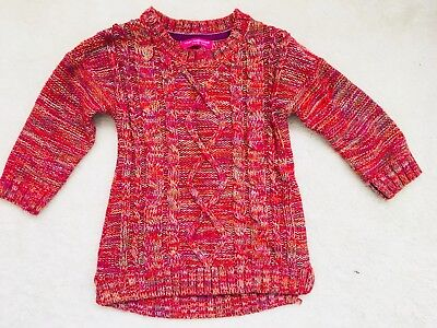 Girls Red Mix Jumper Age 5-6 Years From Primark