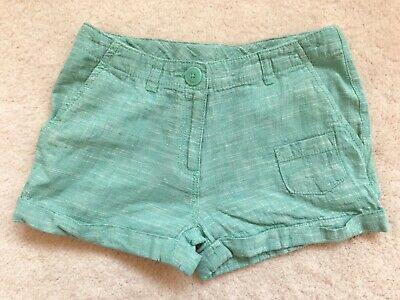 Girls Green Linen Sumner Shorts Age 11years from Next