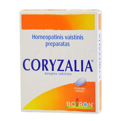Boiron Coryzalia Homeopathic Tabs for the symptoms of the common cold 40Tabs