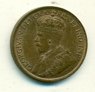 Canada 1 cent 1913 MS62 Red & Brown