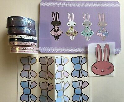 Simply Gilded 2019 Easter Basket Bow Washi Seals & Journaling Card