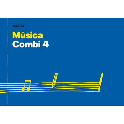 Cuaderno Música ADDITIO M45 Combi 4, 4 Pentagramas 170 x 240 mm.