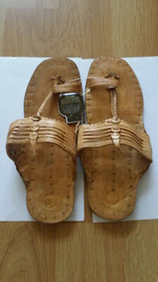 26019cc340a3 Brand New Buffalo Hippie Jesus Sandals HandMade India Leather Unisex  Traditional