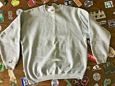 vtg Wilson Tennis Crew Neck Sweatshirt Gray Men's SZ XL  80's Made in Mexico