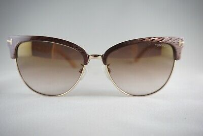 fa329357da982 NEW TOM FORD TF 368 Fany 50G Brown Stripe-Beige   gradient gold mirror new