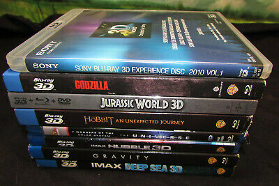 LOT OF 8 3D Bluray blu ray movies drama action adventure w/ cases sleeves lot 6