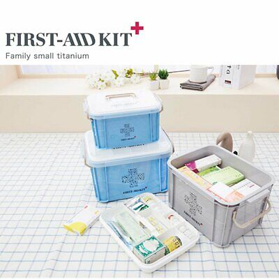 FIRST AID BOX Medical Emergency Case Safe Lockable Medicine