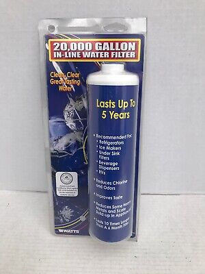 NEW! WATTS 5 Year/20,000 Gallon In-Line Water Filter USA **B15