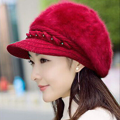 37d016b694938 1x Winter Autumn Lady Warm Knitted Crochet Slouch Baggy Beret Beanie Hat  Cap-FQ