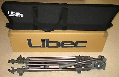 Libec T68 Professional Video Tripod With H22DV Fluid Head QR Plate And Bag NICE!