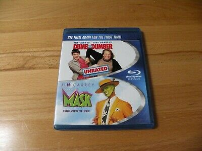 Dumb & and Dumber The Mask Blu-Ray Double Pack Movie Jim Carrey Unrated