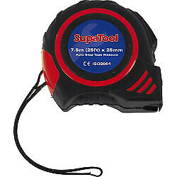 7.5 Meter Tape Measure SupaTool Auto Stop Tape Measure 7.5m Automatic Blade