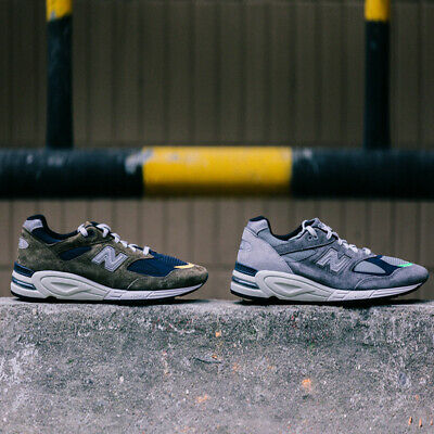 best authentic 2ba70 5a00f MADNESS X NEW Balance 990v2 990 M990 NB Grey Gray Olive M990MD2 M990MS2