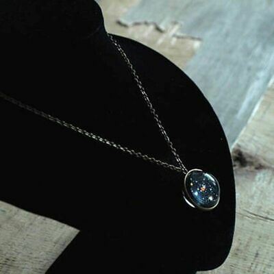 Universe Galaxy Solar System Planets Stone Pendant Glass Chain Necklace Gift
