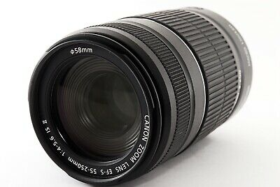 Canon EF-S 55-250mm f4-5.6 IS II Lens 55-250/4-5.6 EFS From Japan Excellent ++++