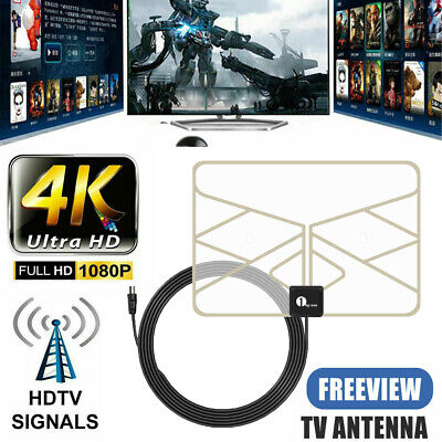 1byone Super-Thin 100 Miles TV Aerial Amplified Indoor TV Antenna Digital Indoor