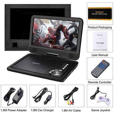 """VETOMILE 10.5"""" Auto DVD Player Video Player 270°rotation and 180°flip Screen Neu"""