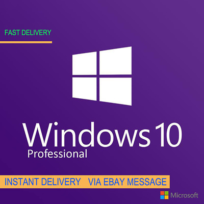Instant Windows 10 Professional Pro 32 & 64 Bit Activation Code License Key Esd
