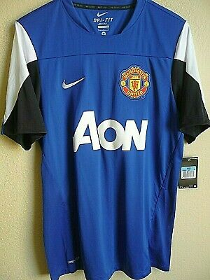2c9bfea732d Nike Manchester United FC Squad Training Practice Soccer Jersey M NWT 545034