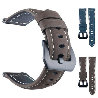 22MM Replacement Leather Watch Strap WristBand For Samsung Gear S3 Smart Watch