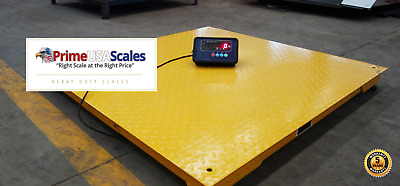 "10,000 lb 40""x40"" Floor Scale Pallet Warehouse 5 Year Warranty with Indicator"
