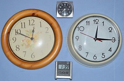 4 X Clocks For Spares Or Repair Faulty Or Not Working Learn How To Repair Clocks