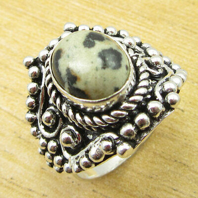 925 Silver Plated Fiery DALMATION STUNNING Ring Size 7.5