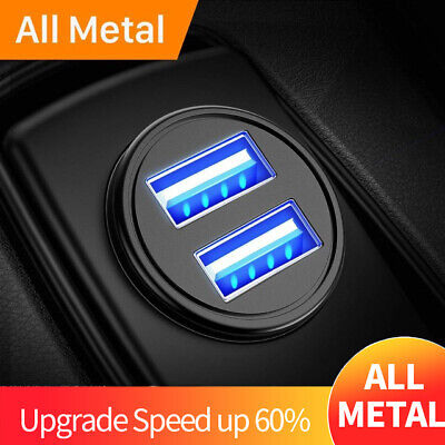 Car Charger 4.2A Double LED USB Metal Universal Fast Charging for iPhone Samsung