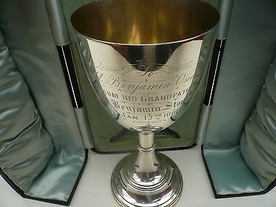 40e67dd2cc Silver Goblet, Sterling, English, Antique, Hallmarked 1900, Levi & Salaman.