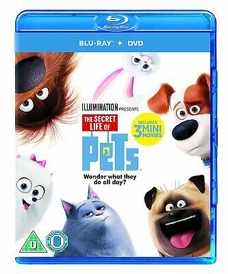 The Secret Life Of Pets Blu-ray + DVD + Dig with  Kevin Hart New (Blu-ray  2016)