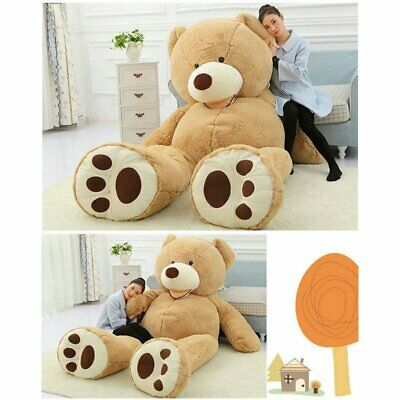 UK 160-260CM Light Brown Giant Skin Teddy Bear Big Stuffed Toy(Only cover